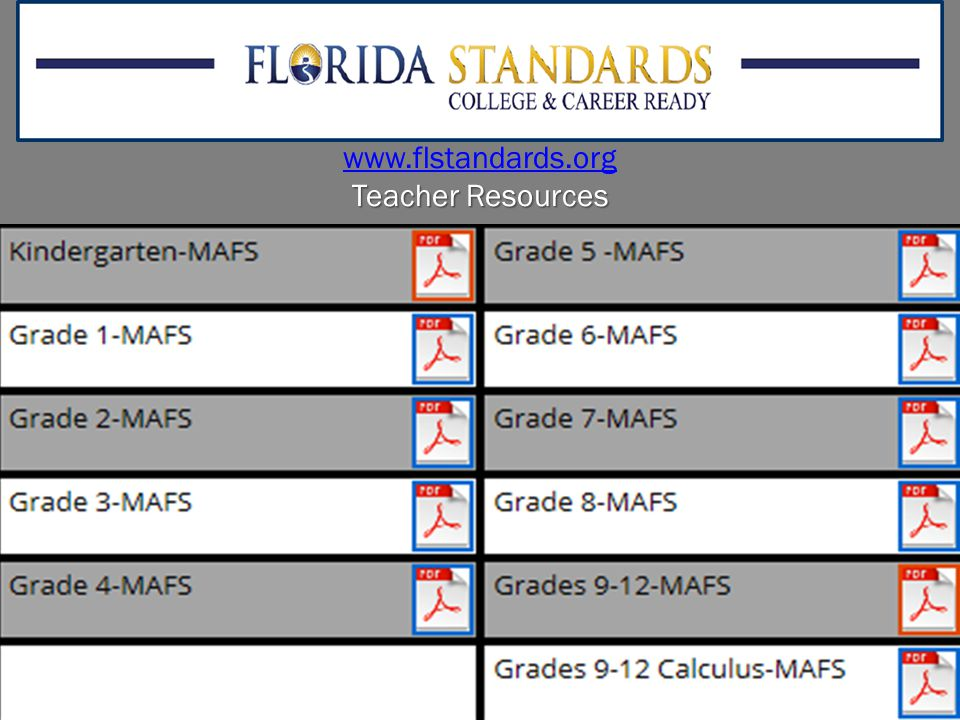 www.flstandards.org Teacher Resources