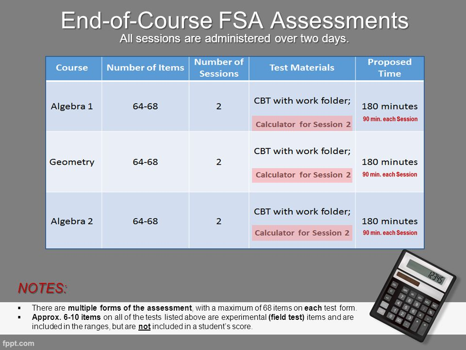 End-of-Course FSA Assessments