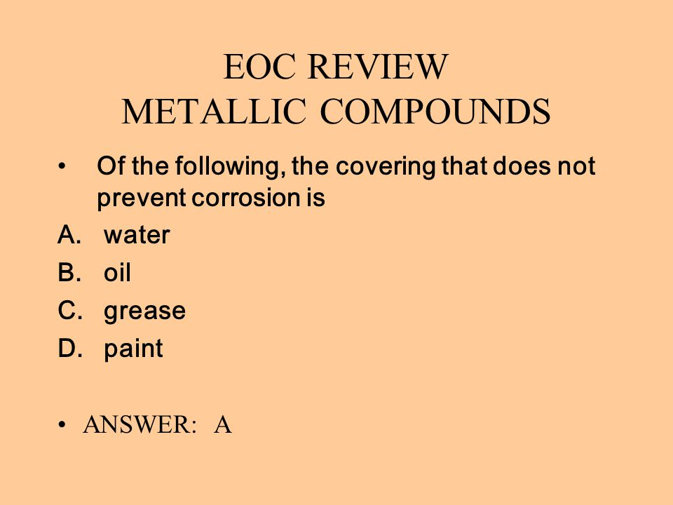 EOC REVIEW METALLIC COMPOUNDS