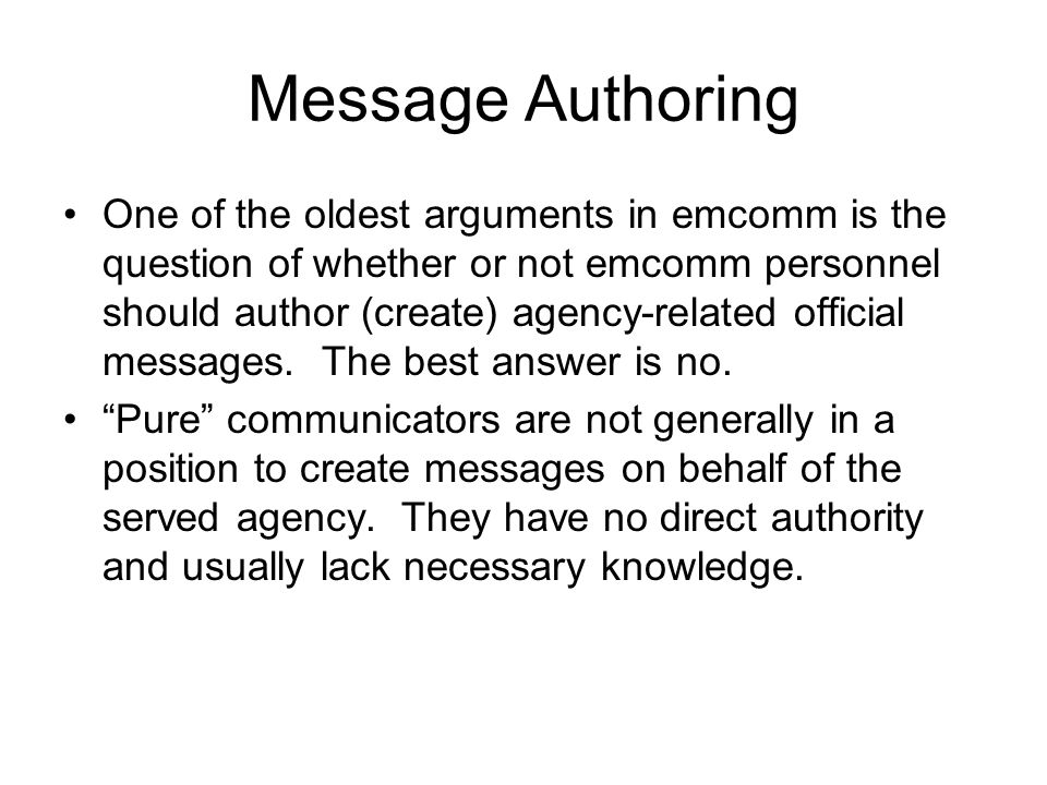 Message Authoring