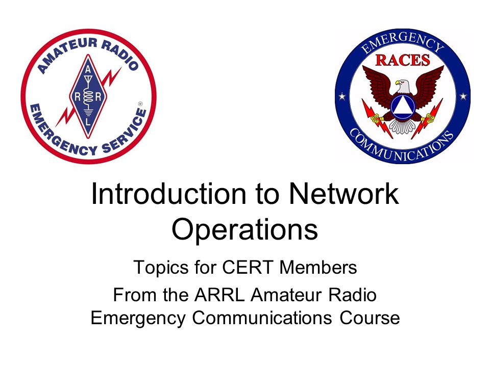 Introduction to Network Operations