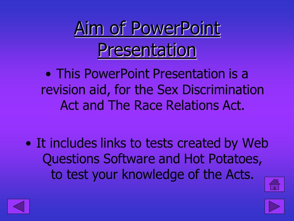 Aim of PowerPoint Presentation