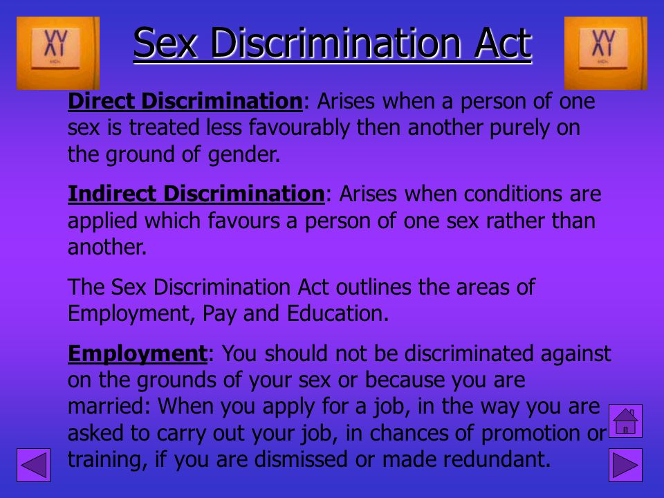Sex Discrimination Act