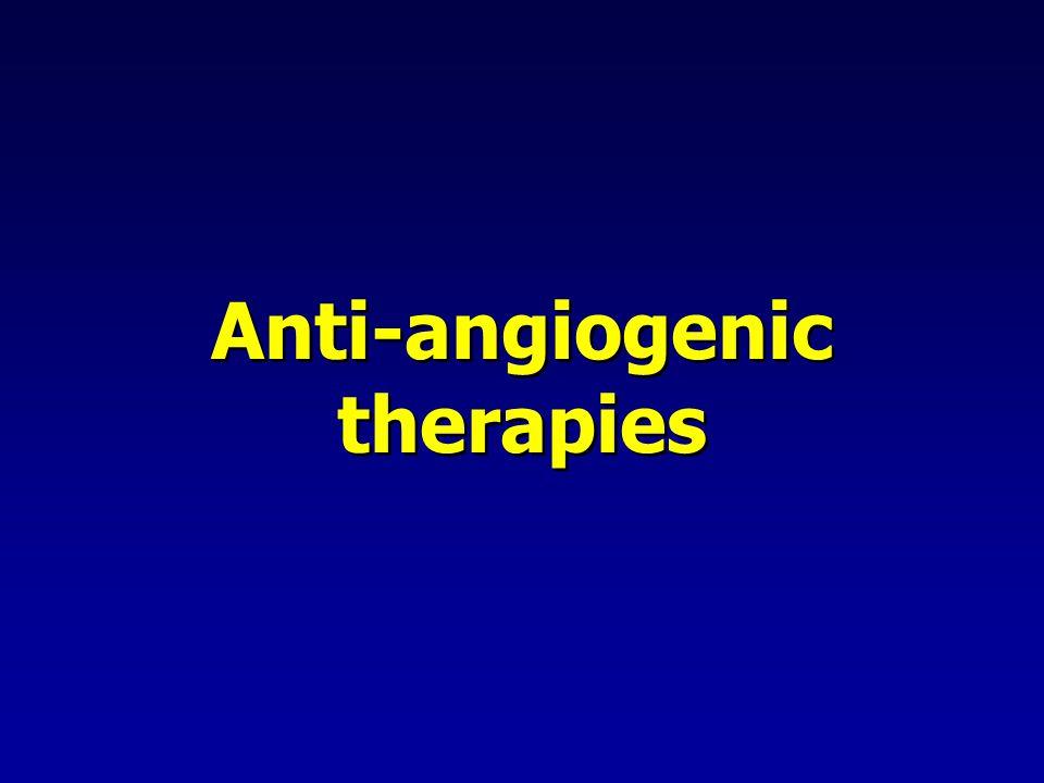 Anti-angiogenic therapies