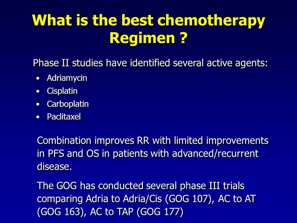 What is the best chemotherapy Regimen