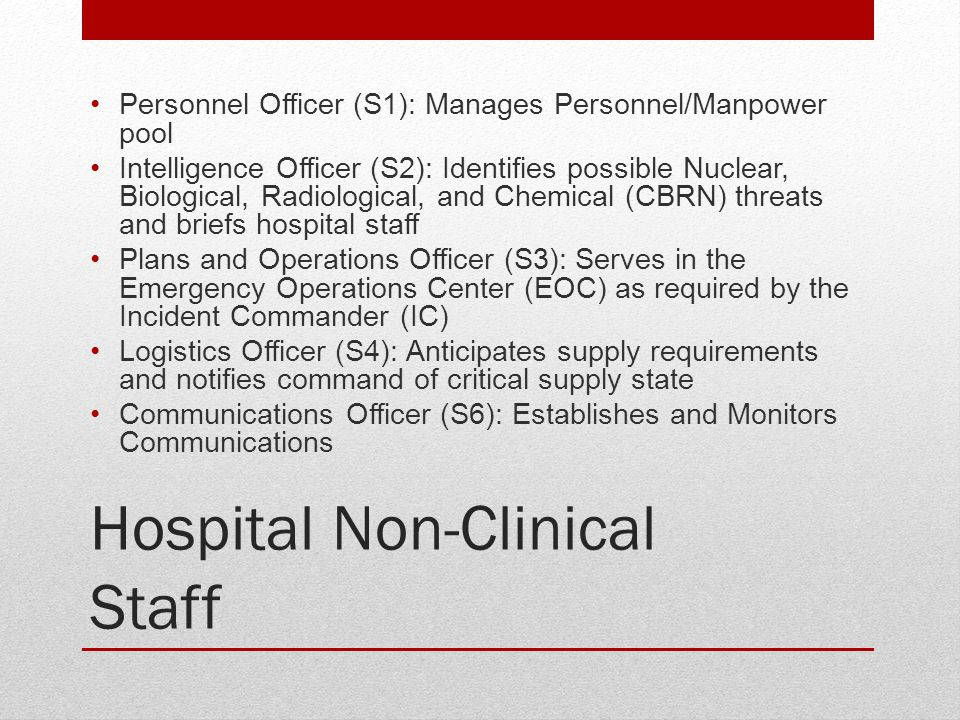 Hospital Non-Clinical Staff