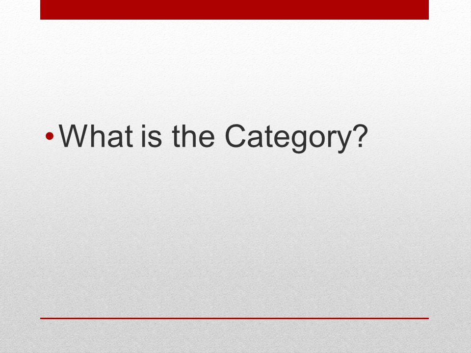 What is the Category