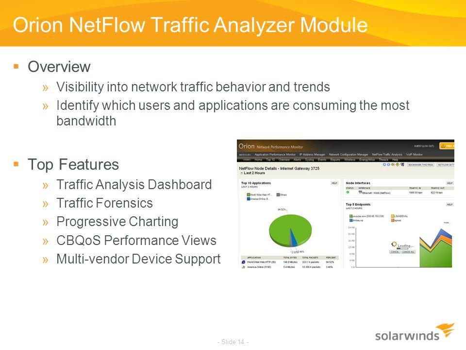 Orion NetFlow Traffic Analyzer Module