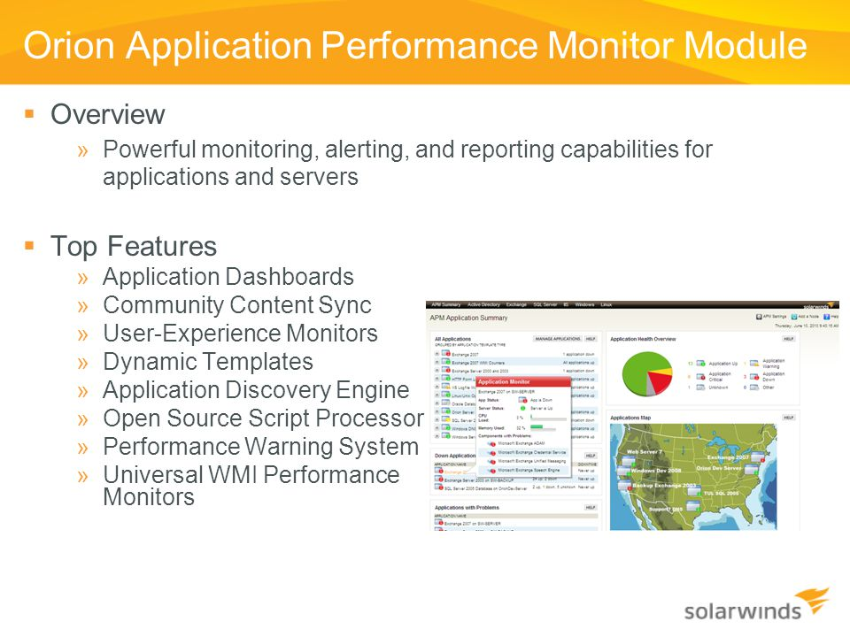 Orion Application Performance Monitor Module