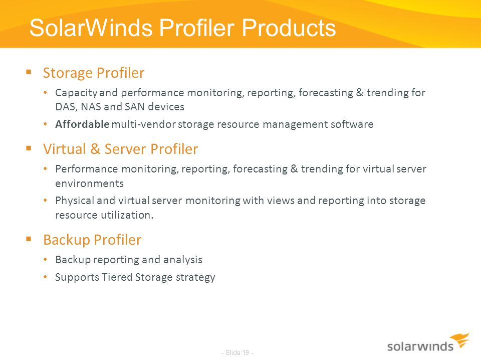 SolarWinds Profiler Products