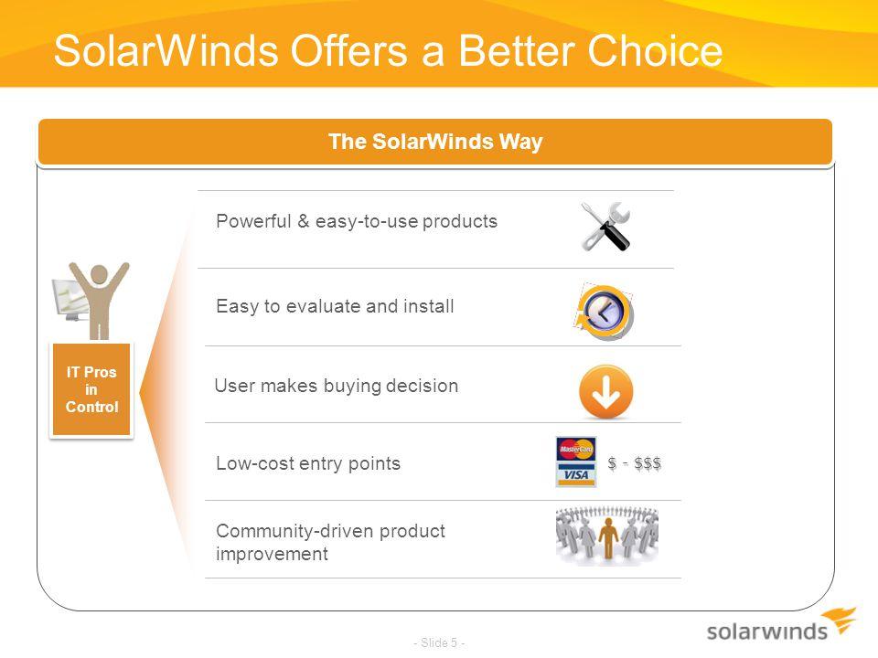 SolarWinds Offers a Better Choice
