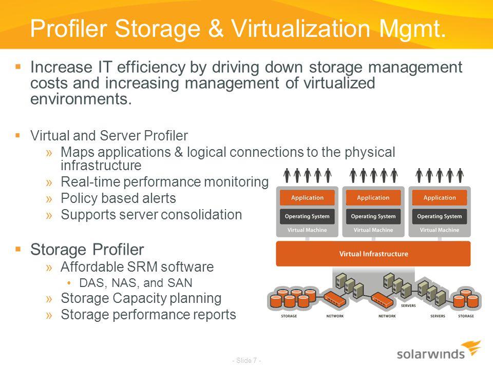 Profiler Storage & Virtualization Mgmt.