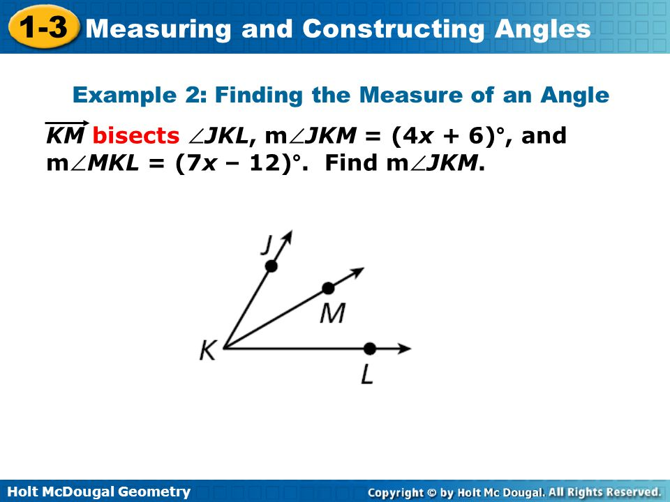 Example 2: Finding the Measure of an Angle
