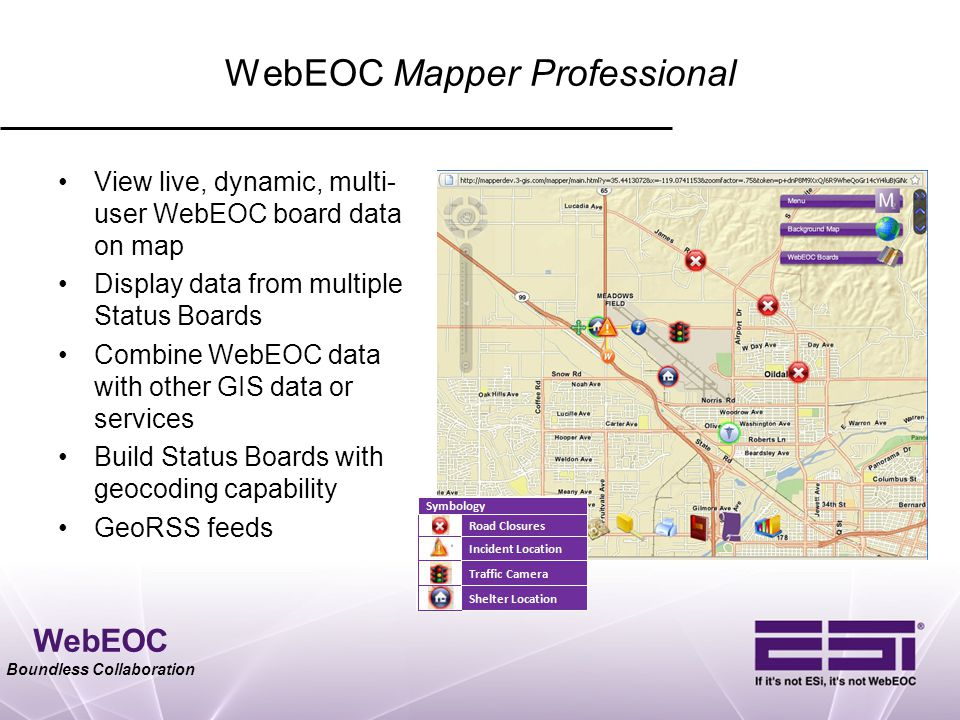 WebEOC Mapper Professional