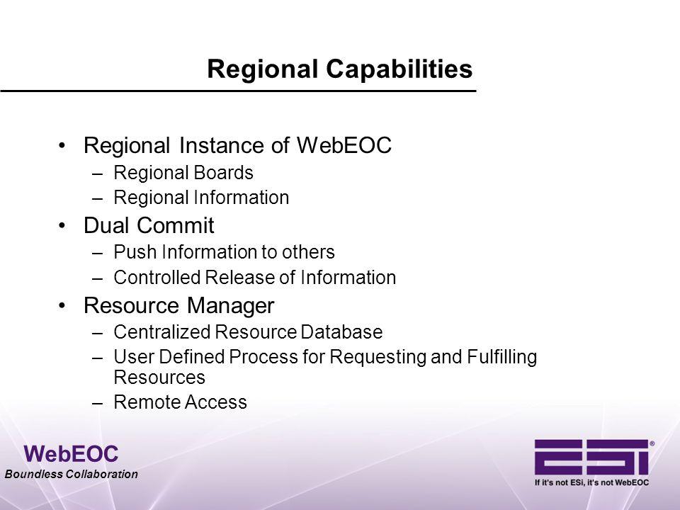Regional Capabilities