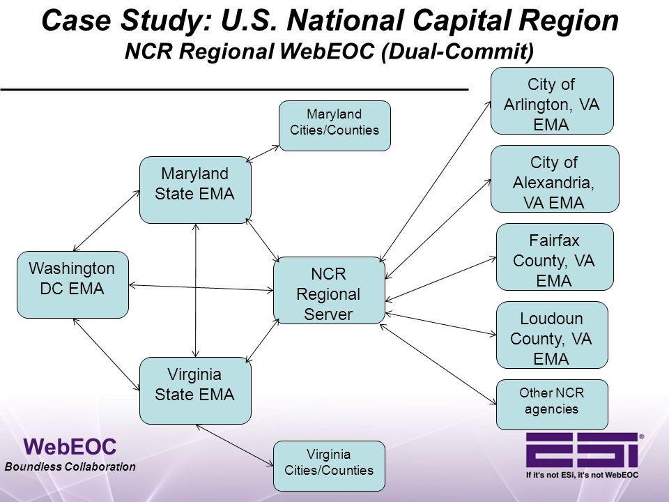 Case Study: U.S. National Capital Region NCR Regional WebEOC (Dual-Commit)