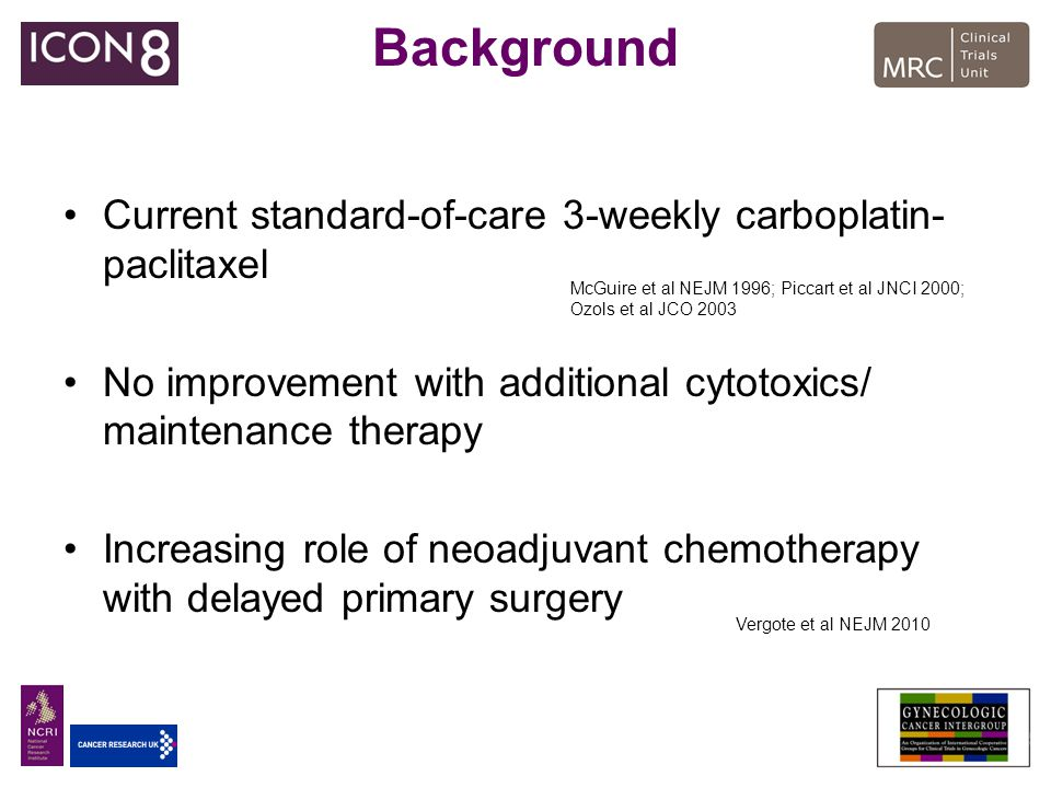 Background Current standard-of-care 3-weekly carboplatin-paclitaxel