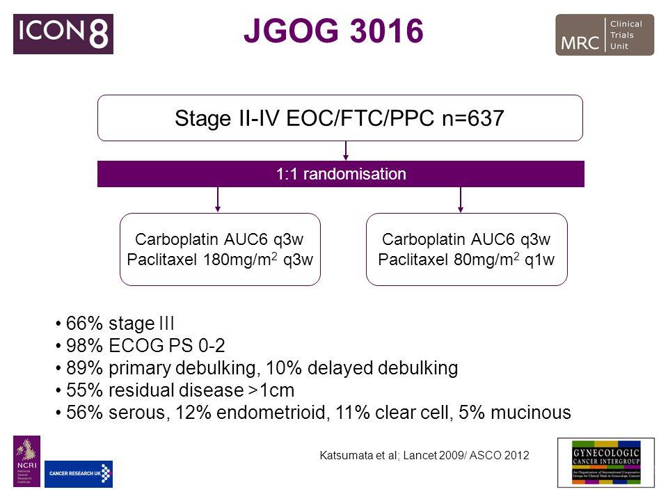 Stage II-IV EOC/FTC/PPC n=637