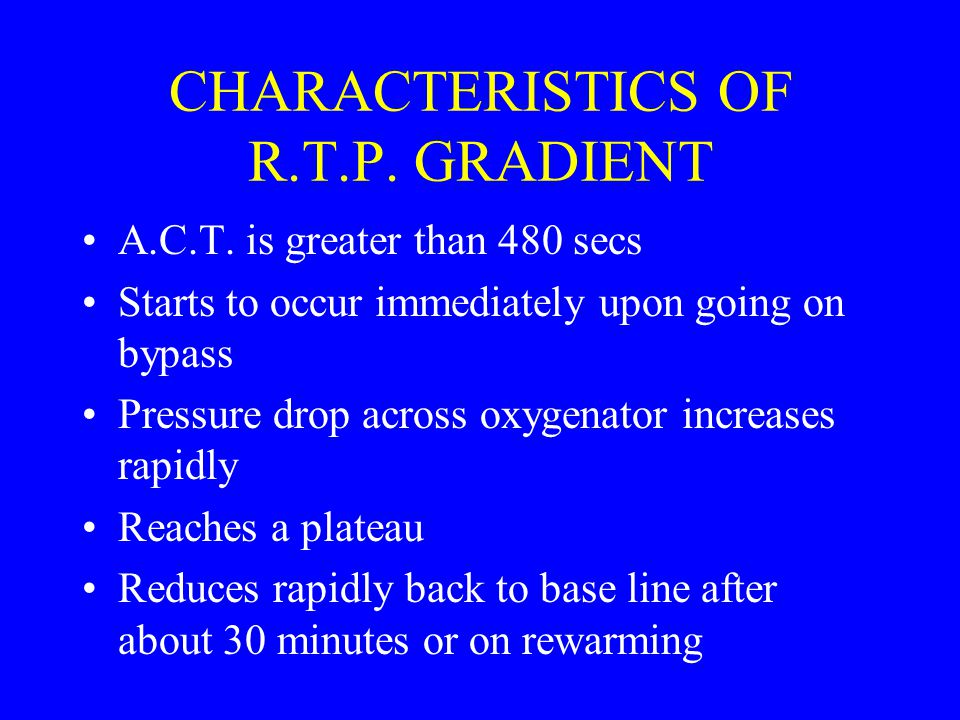 CHARACTERISTICS OF R.T.P. GRADIENT