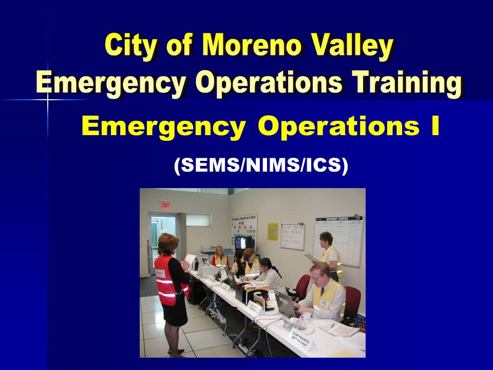 Emergency Operations I