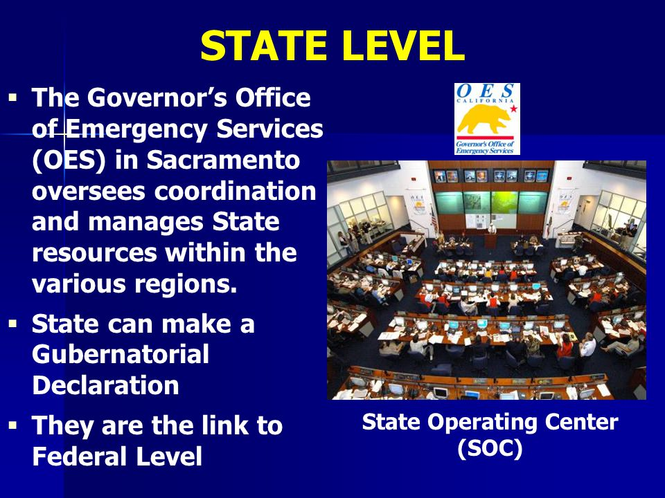 State Operating Center (SOC)