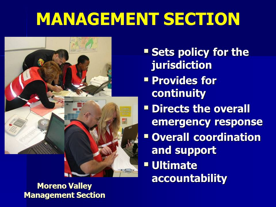 Moreno Valley Management Section