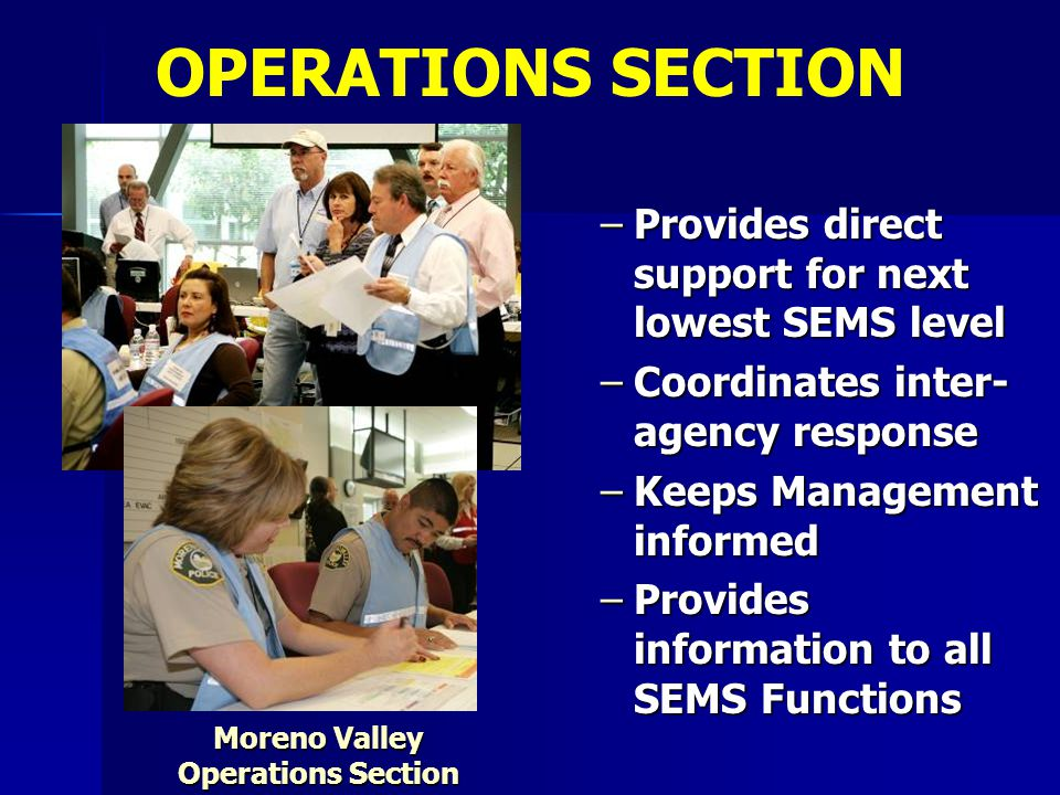 Moreno Valley Operations Section
