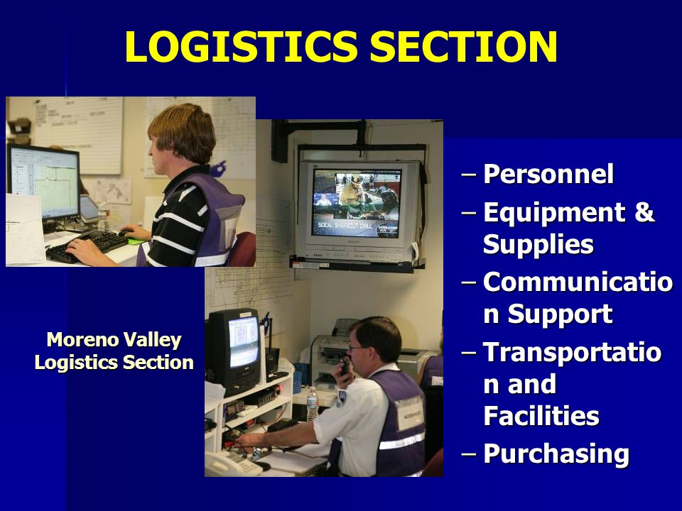 Moreno Valley Logistics Section
