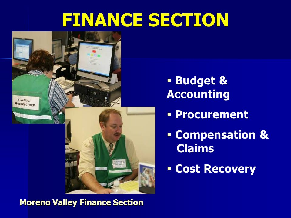 Moreno Valley Finance Section