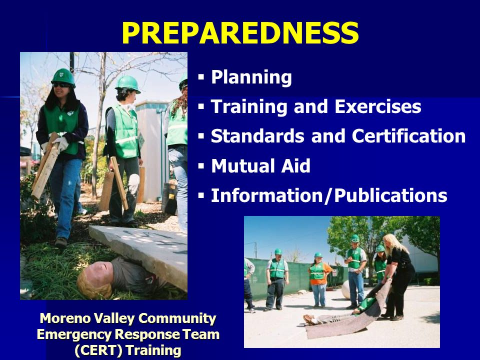 Moreno Valley Community Emergency Response Team (CERT) Training