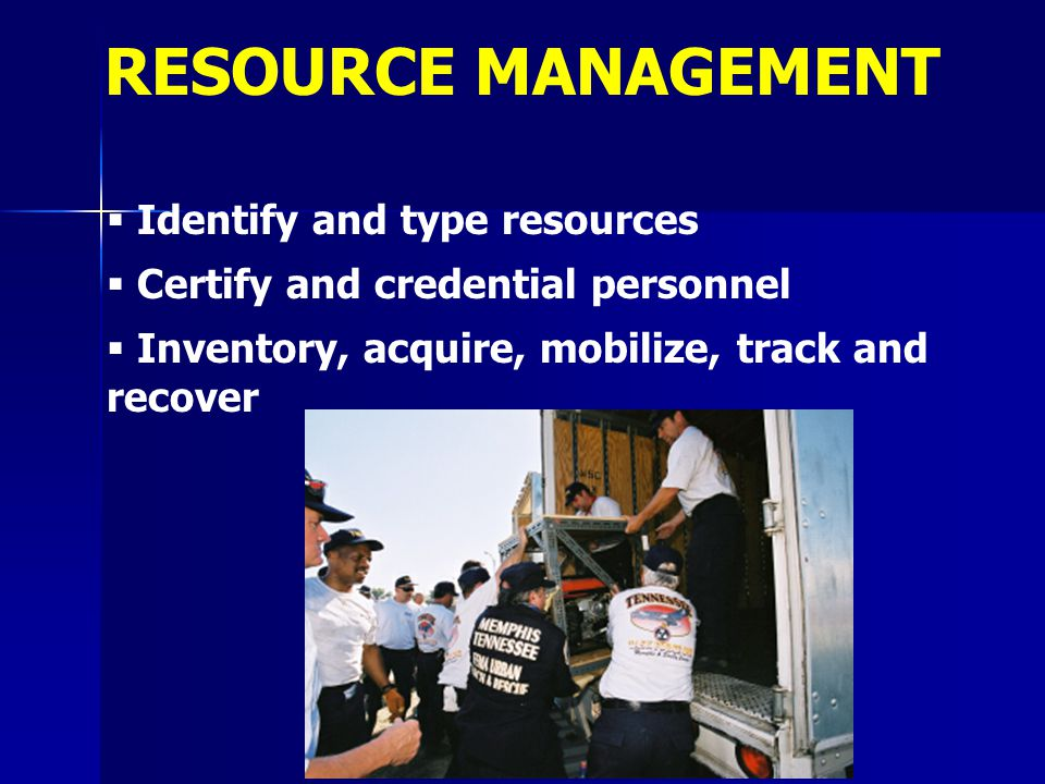 RESOURCE MANAGEMENT Identify and type resources