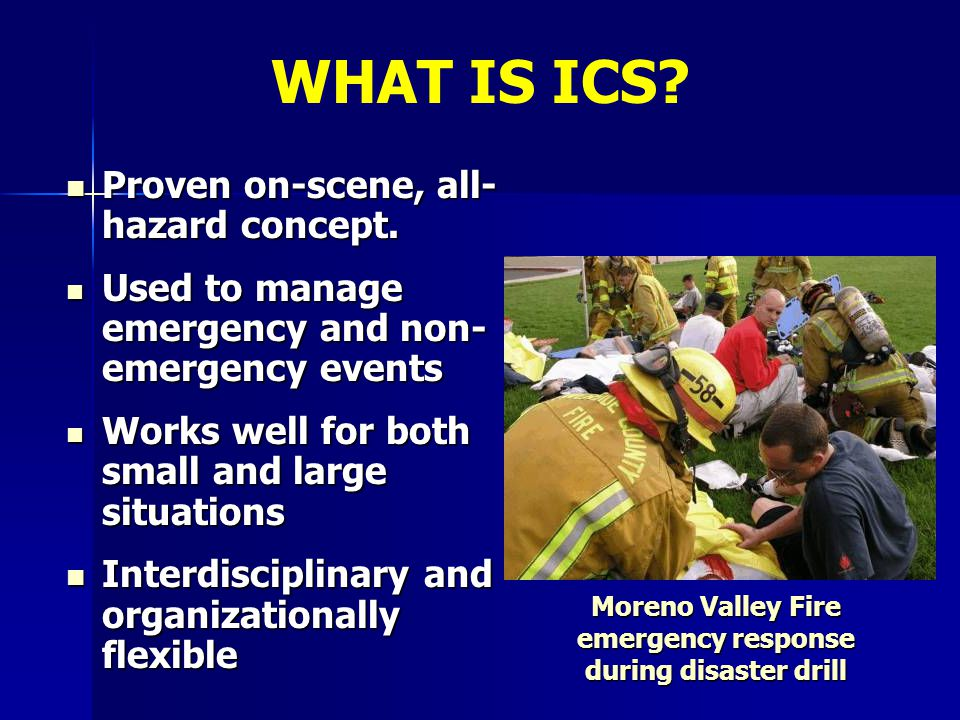Moreno Valley Fire emergency response during disaster drill