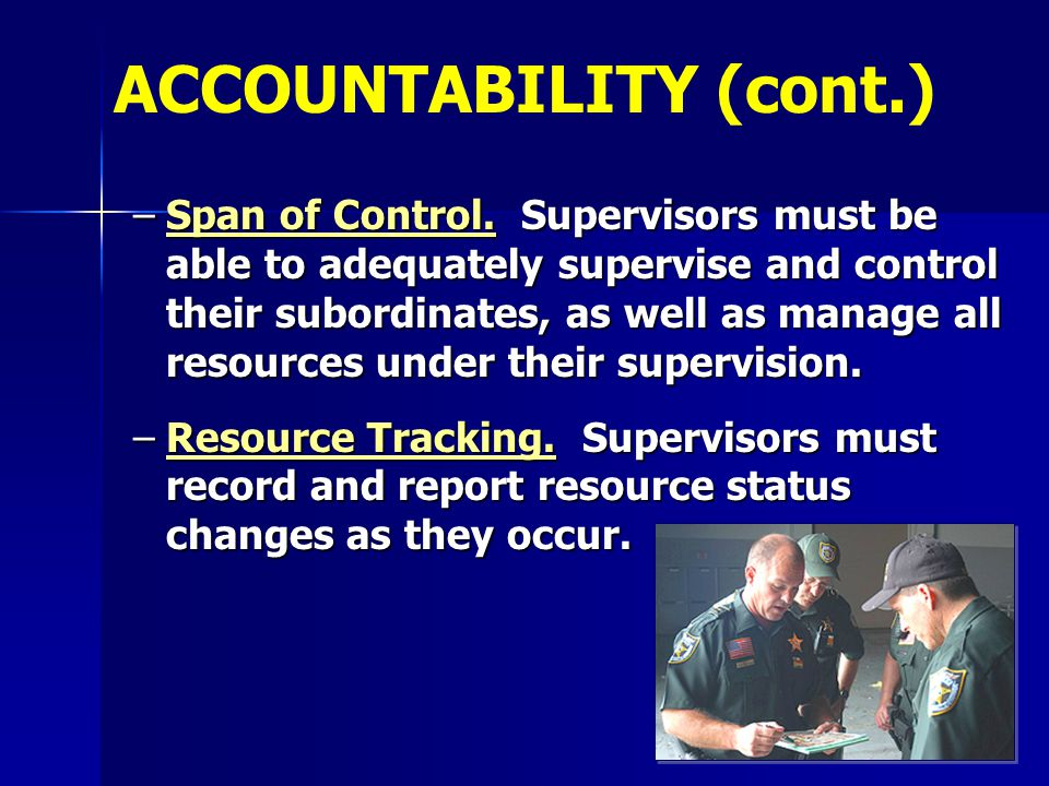 ACCOUNTABILITY (cont.)