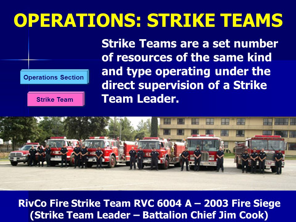 OPERATIONS: STRIKE TEAMS
