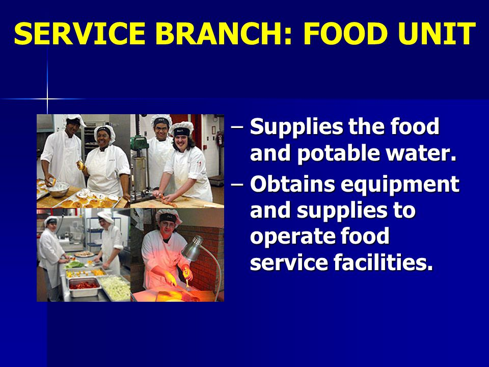 SERVICE BRANCH: FOOD UNIT