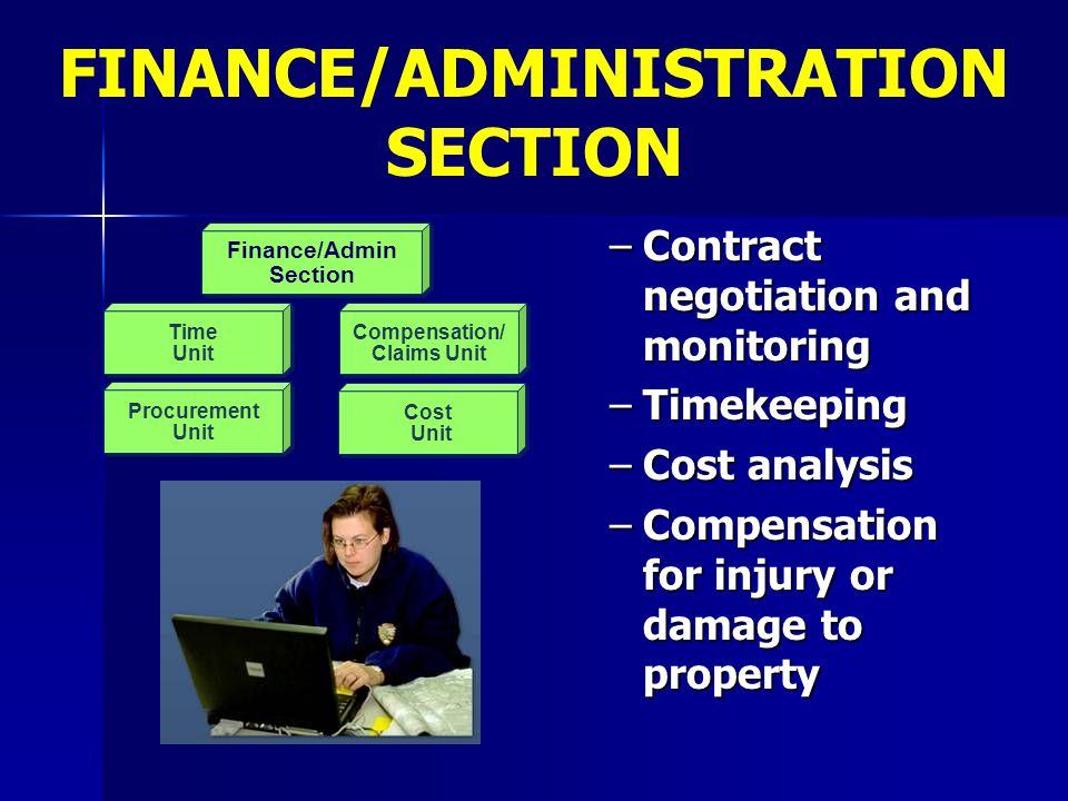 FINANCE/ADMINISTRATION SECTION Finance/Admin Section