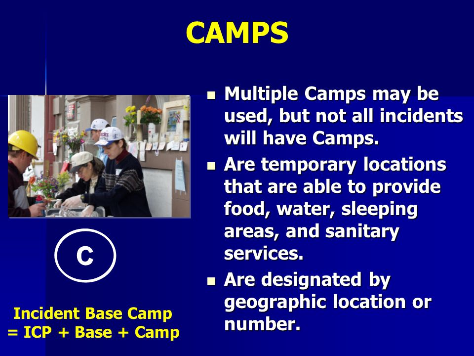 Incident Base Camp = ICP + Base + Camp