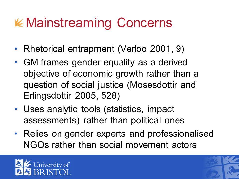 Mainstreaming Concerns
