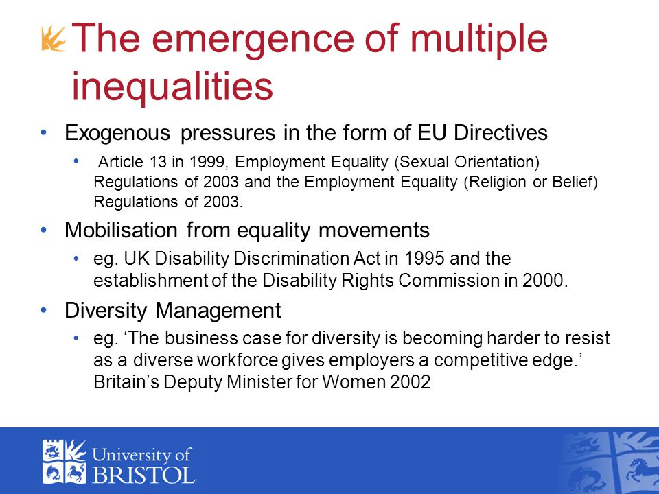 The emergence of multiple inequalities