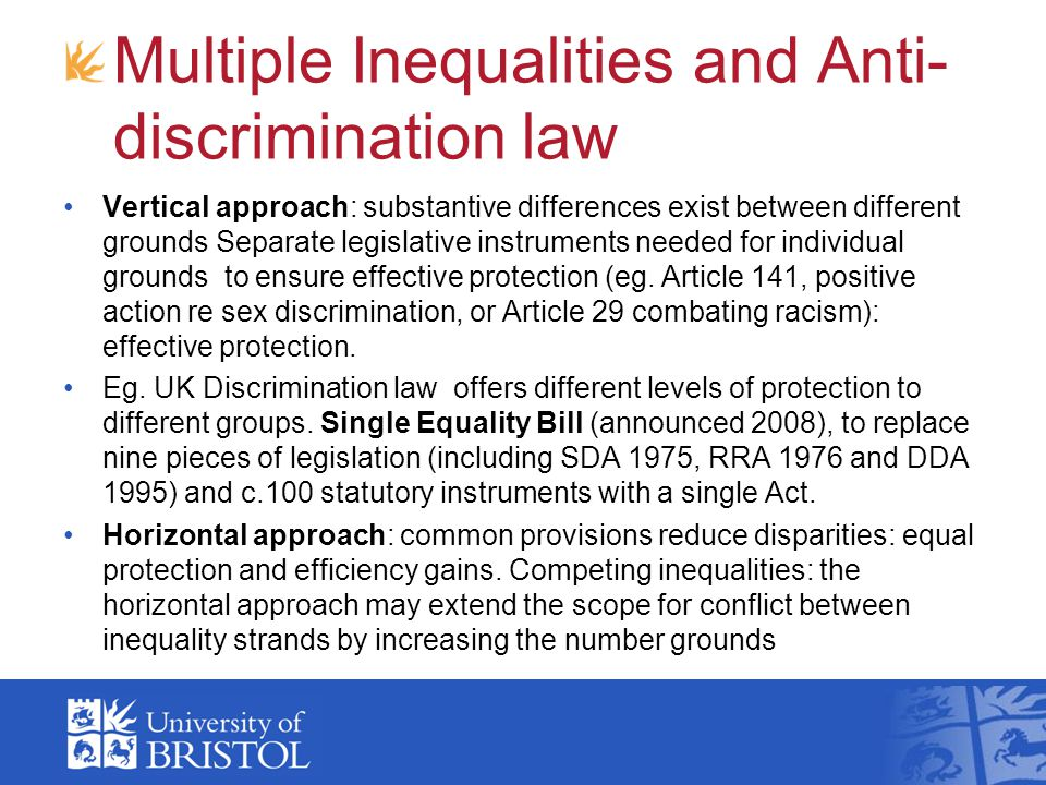 Multiple Inequalities and Anti-discrimination law
