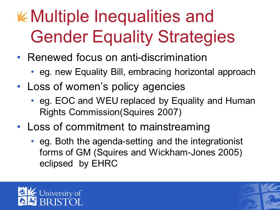 Multiple Inequalities and Gender Equality Strategies