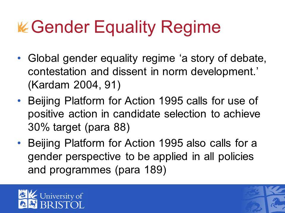 Gender Equality Regime