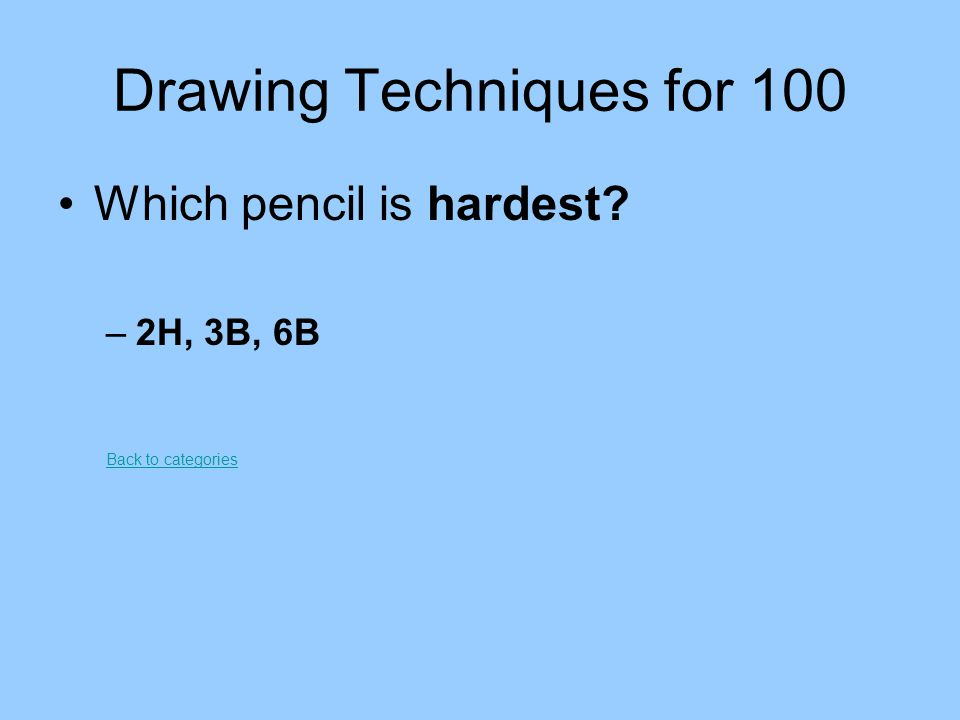 Drawing Techniques for 100