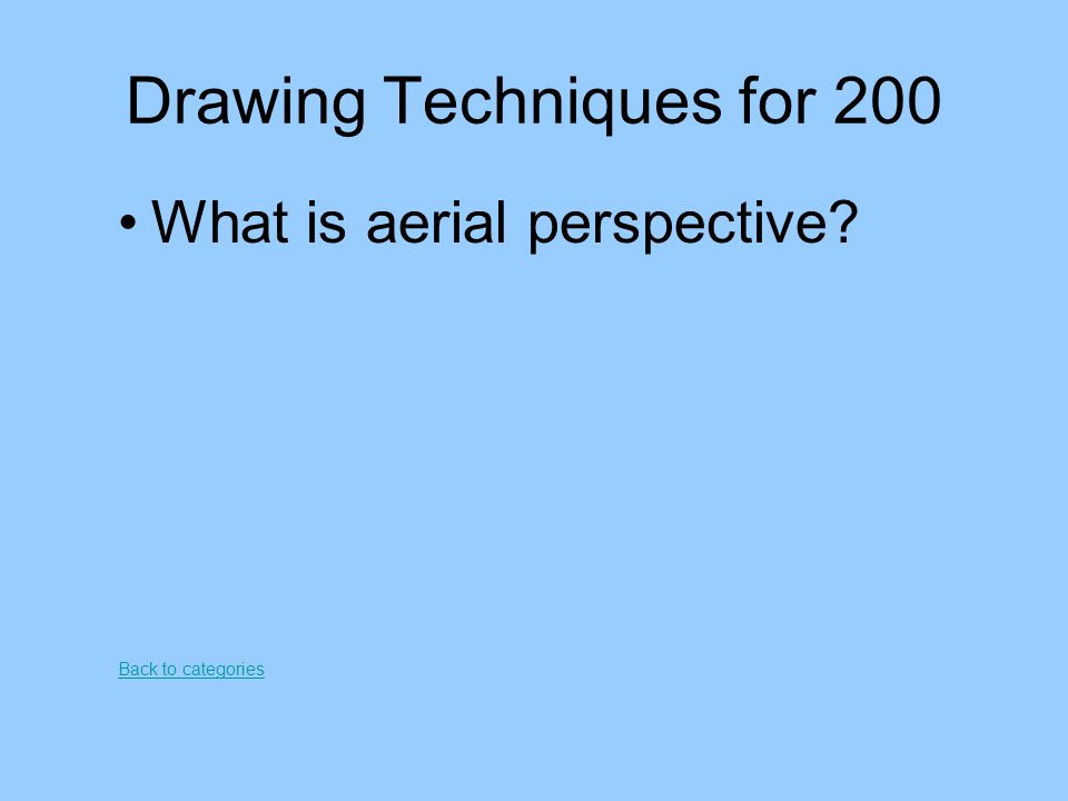 Drawing Techniques for 200