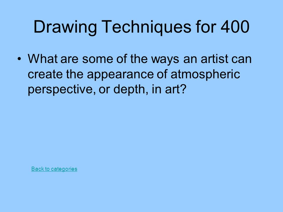 Drawing Techniques for 400