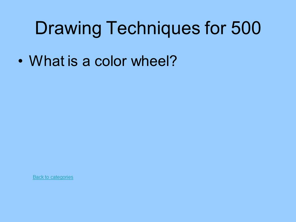 Drawing Techniques for 500