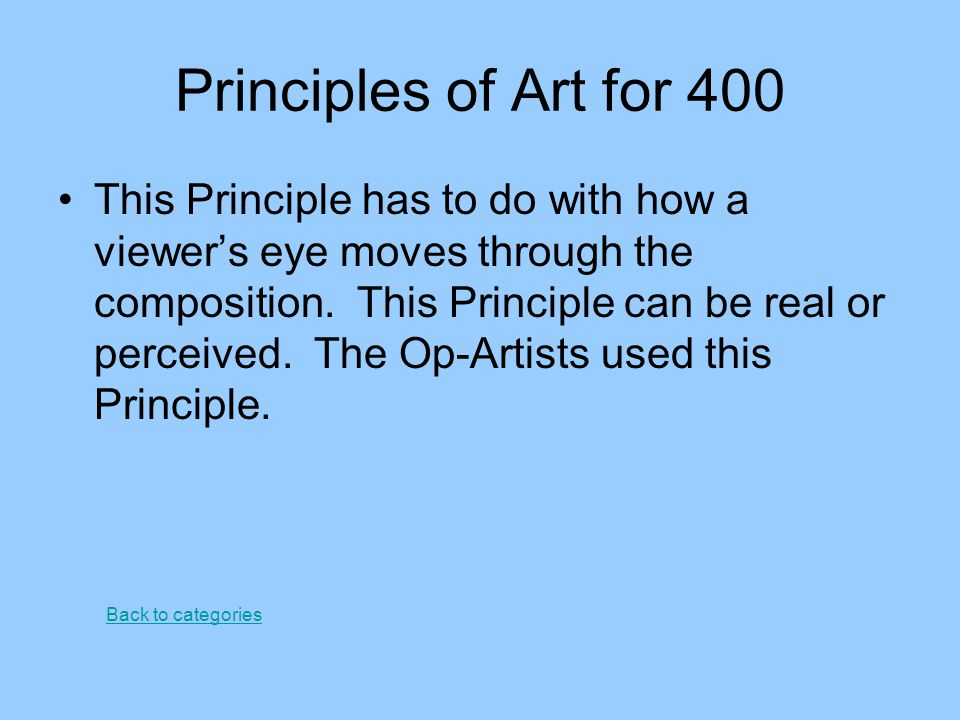 Principles of Art for 400