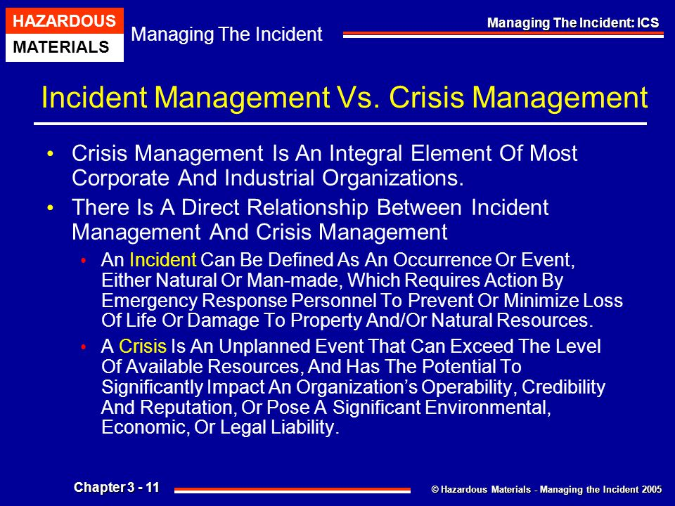 Incident Management Vs. Crisis Management