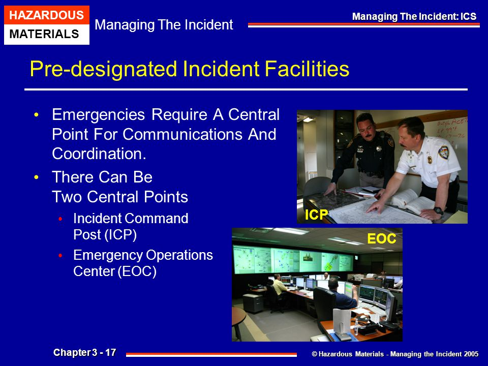 Pre-designated Incident Facilities