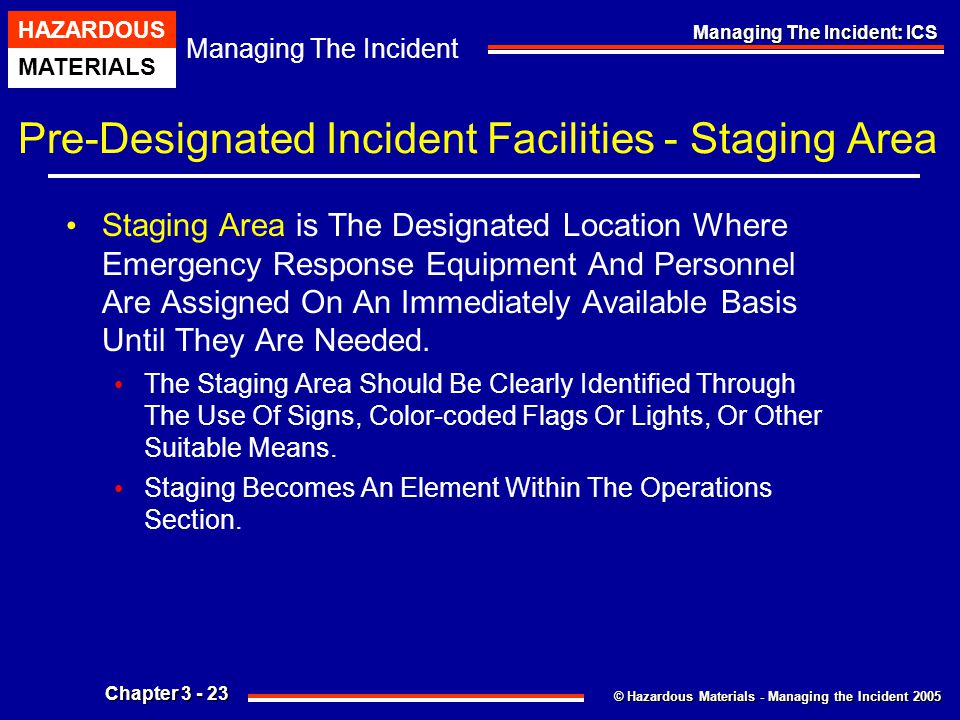 Pre-Designated Incident Facilities - Staging Area